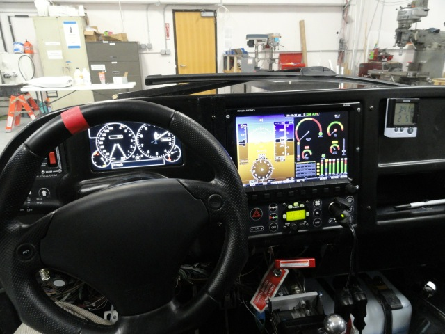 Cockpit of Terrafugia's Transition vehicle