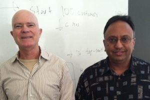 Global Analytics Zebit CEO Michael Thiemann (left) and COO Krishna Gopinathan