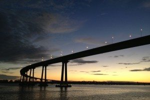 San Diego landmark, Coronado Bridge, San Diego Bay