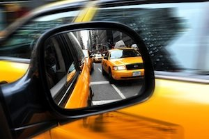 Yellow Taxicabs in Manhattan New York City