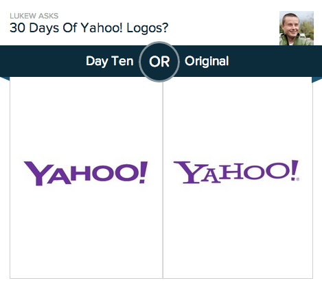 Yahoo versus Yahoo: Luke Wroblewski's poll on Polar