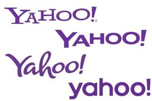 "Yahoo logos from the company's ""30 Days of Change"" Campaign"