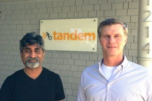 Tandem founders Sunil Bhargava and Doug Renert