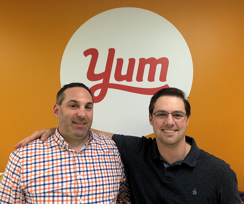 Yummly CEO Dave Feller (left) and head of mobile and platform technology Brian Witlin (right)