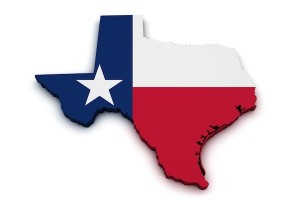 Texas Map Flag Shape