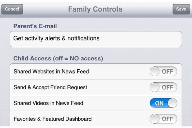 MyPad's Sister App FamilyControls Lets Parents Limit Facebook Access
