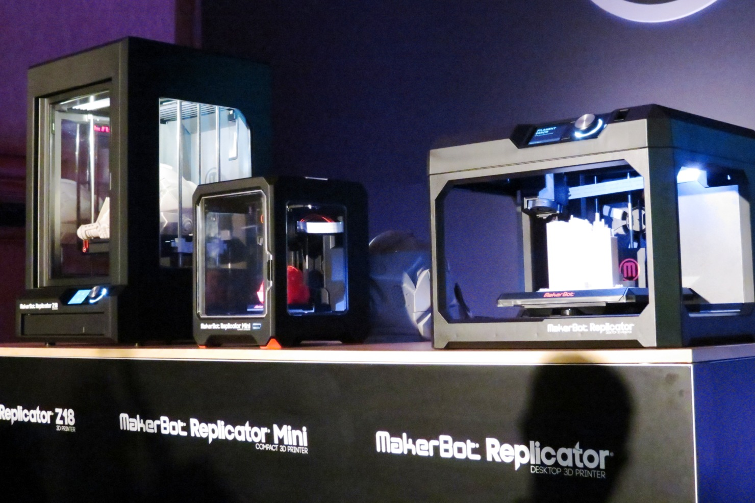 MakerBot brought three new printers to CES 2014 (photo by João-Pierre S. Ruth.)