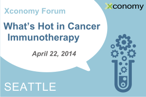 "Genentech Joins ""What's Hot in Cancer Immunotherapy"" Apr. 22"