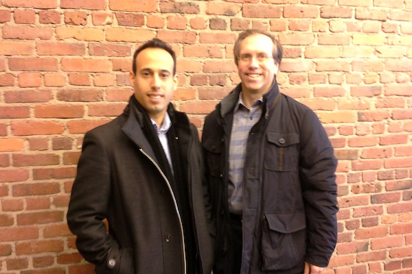 Cybereason's Lior Div (left) and Mark Taber