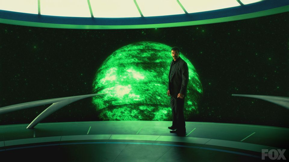 """Neil deGrasse Tyson aboard the """"Ship of the Imagination"""" on the new Cosmos: A Space-Time Odyssey"""