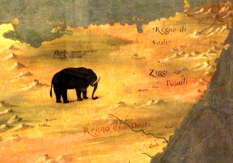 Detail from Ignazio Danti's map of Eastern Africa