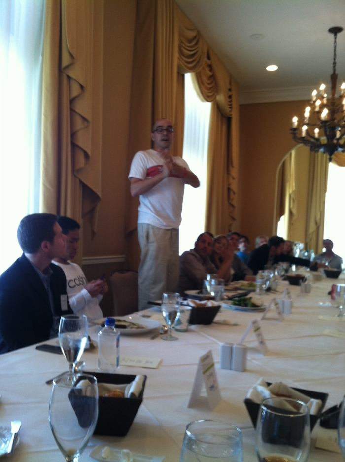 Dave McClure on chair