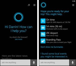 Cortana is a virtual personal assistant service included in Windows Phone 8.1.