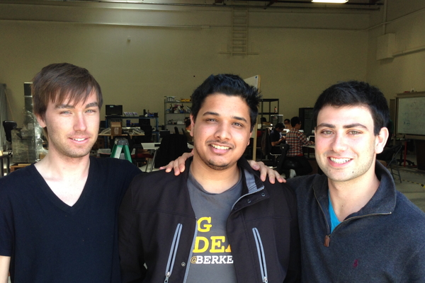 The co-founders of Vires Aero. Left to right: Zach Hargreaves, Harshil Goel, Jordan Greene.