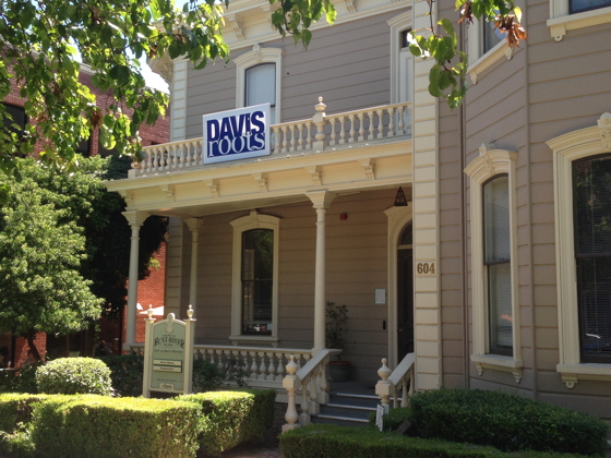 Davis Roots, in the historic Hunt-Boyer Mansion in downtown Davis, is a non-profit business accelerator that aims to increase the number of high-growth companies based in the city.