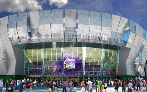 Artist's rendering of the new Sacramento Kings arena, scheduled to open in October 2016.