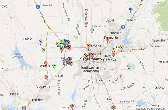 SARTA has identified nearly 70 agtech startups in the Sacramento region, many of them clustered around Davis and nearby Woodland. See interactive map at http://www.sarta.org/agstart/AgTechMap.html.