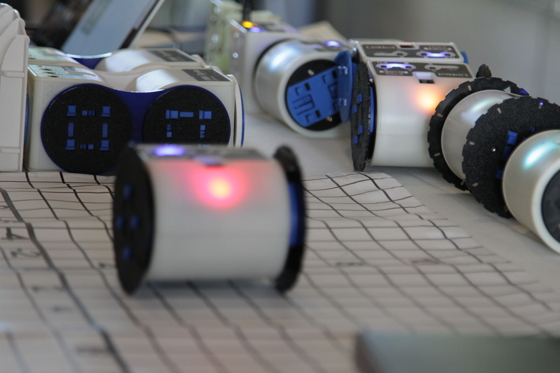 Barobo's Linkbot modular robots are used in classrooms to teach concepts in mathematics and programming. The 12-employee company, based in downtown Davis, was the first to graduate from local startup accelerator Davis Roots. Photo: Palvinder Jagait.