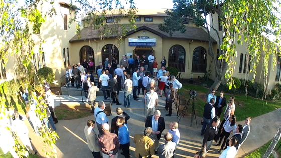 Startup founders and investors gather at Velocity Venture Capital's new Entrepreneurs' Campus in Folsom; this photo was snapped by an aerial drone. Source: Velocity Venture Capital.