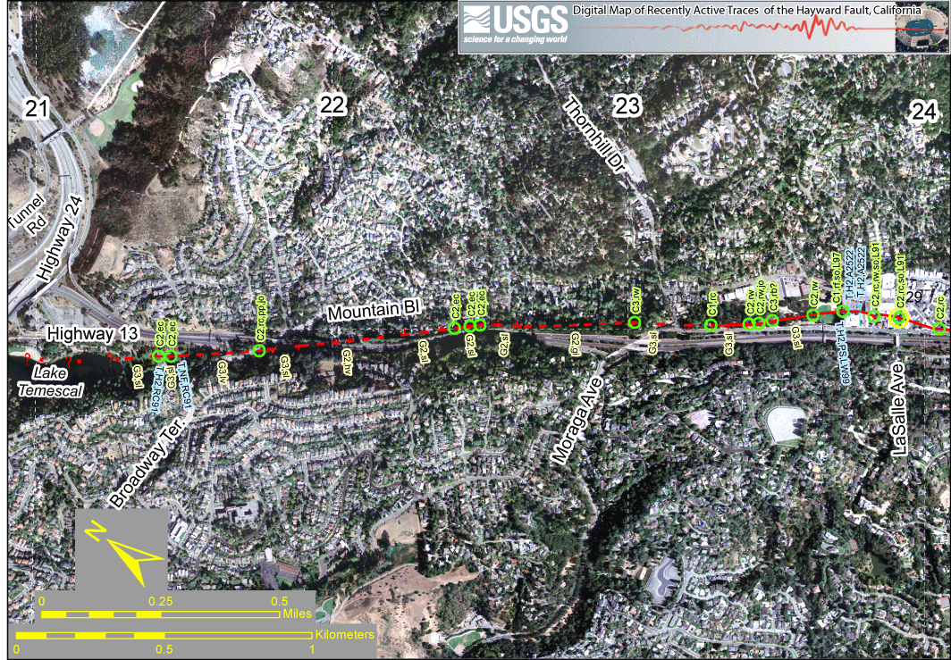 The Hayward Fault slices through Oakland and several other densely populated East Bay cities.