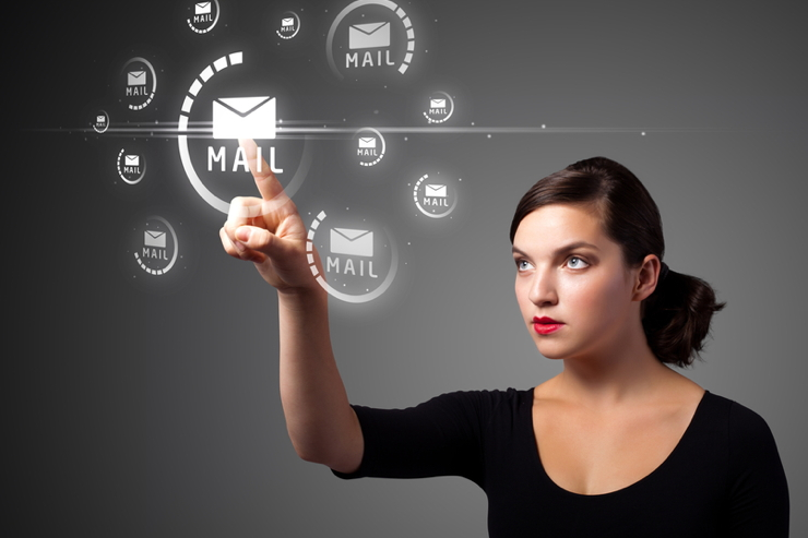 The Future of Work, Plus or Minus E-mail - stock image