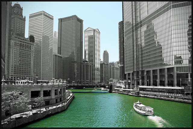 The Chicago River in Chicago.