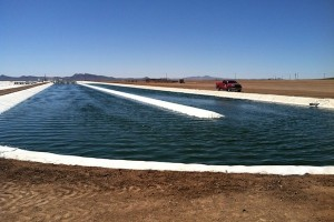 Sapphire Energy 1-acre pond for growing algae