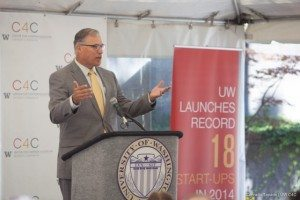 Inslee at the UW startup celebration in 2014.