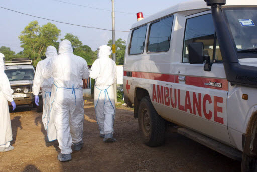 WHO field workers in Sierra Leone during the Ebola outbreak