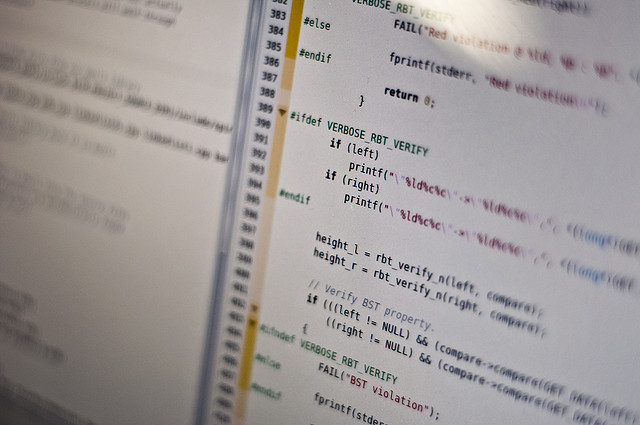Software code stock image