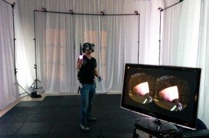 First-person light saber battle from Atomic VR.