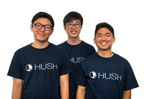 "Hush founders Daniel Chesong Lee, Daniel Synn, and CEO Daniel ""Ewok"" Lee"
