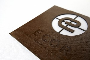 Ecor panel with logo (courtesy Noble Environmental Technologies)