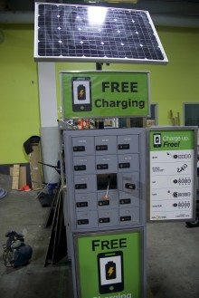 Sol Power charging station.