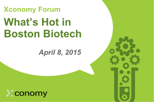 "Find Out ""What's Hot in Boston Biotech"" on April 8"