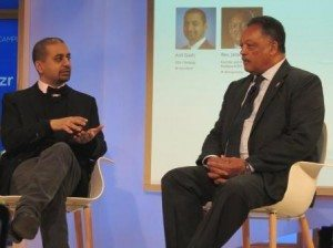 ThinkUp CEO Anil Dash talks with Rev. Jesse Jackson about increasing diversity in the tech industry. (photo by João-Pierre S. Ruth)