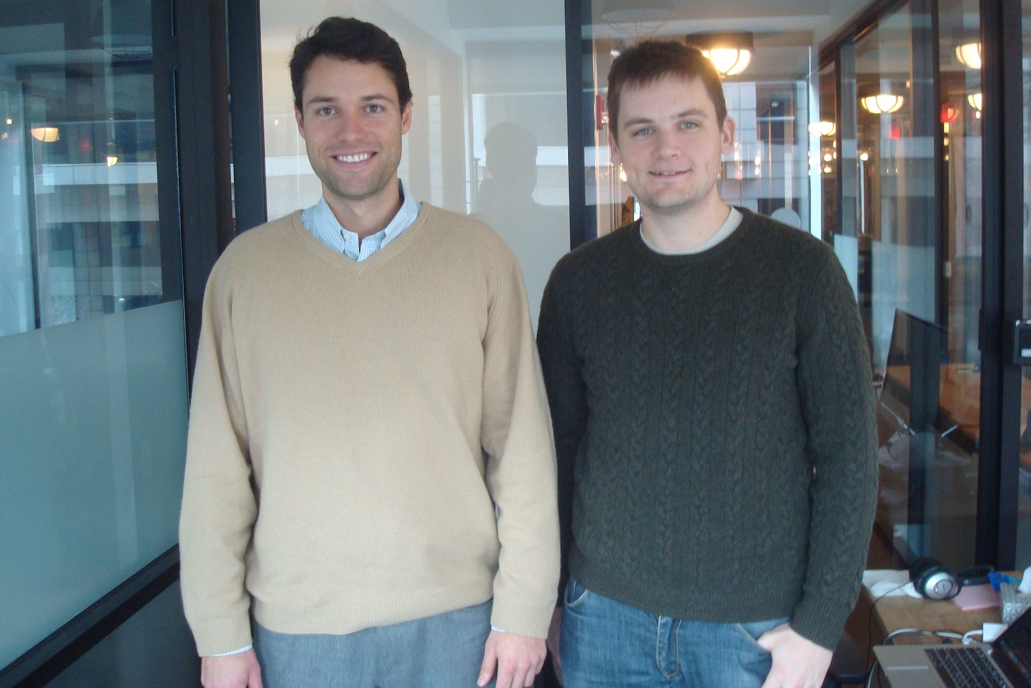 Beansprock founders Cameron Levy (left) and Dustin Smith