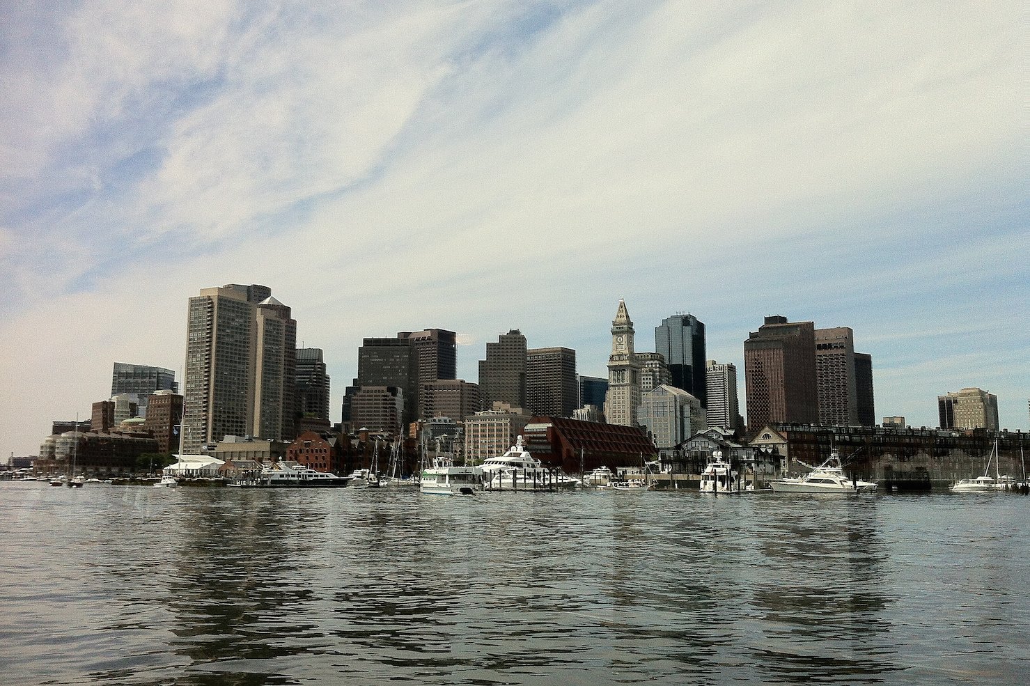 Boston Harbor and downtown Boston (image: Wade Roush)