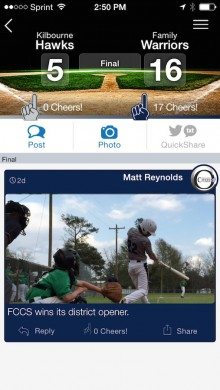 ScoreStream mobile app for smart phones