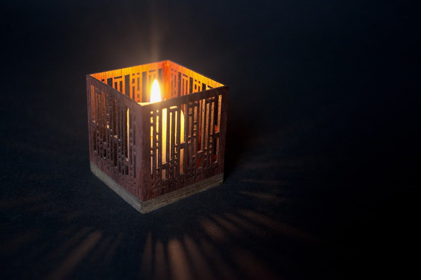 Glowforge Candle