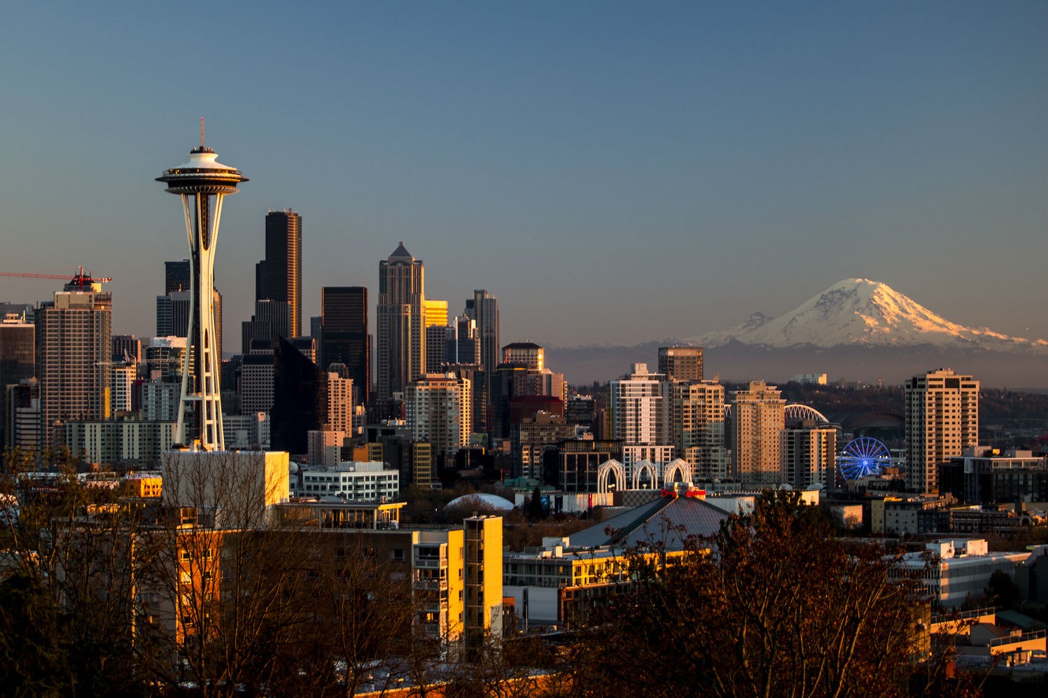 Downtown Seattle and Rainier