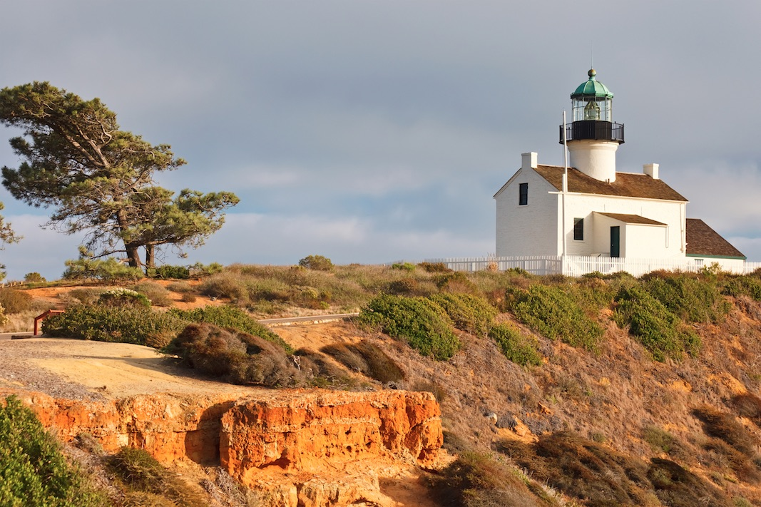 San Diego 1480x  Point Loma Lighthouse in Cabrillo National Park (Depositphotos © sborisov)