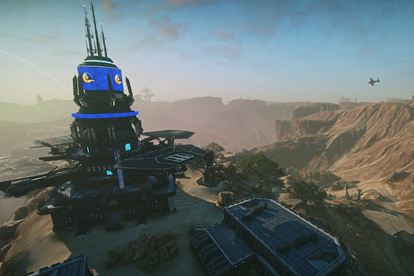 A scene from the game PlanetSide (Daybreak Game)