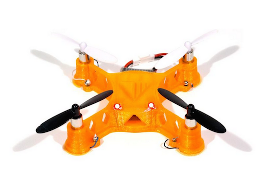 Quadcopter drone made by Voxel8's 3D printer