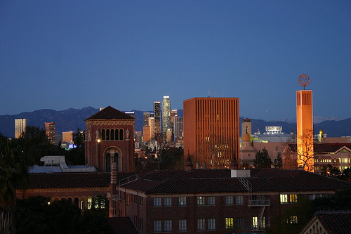 USC campus and downtown Los Angeles (credit USC)
