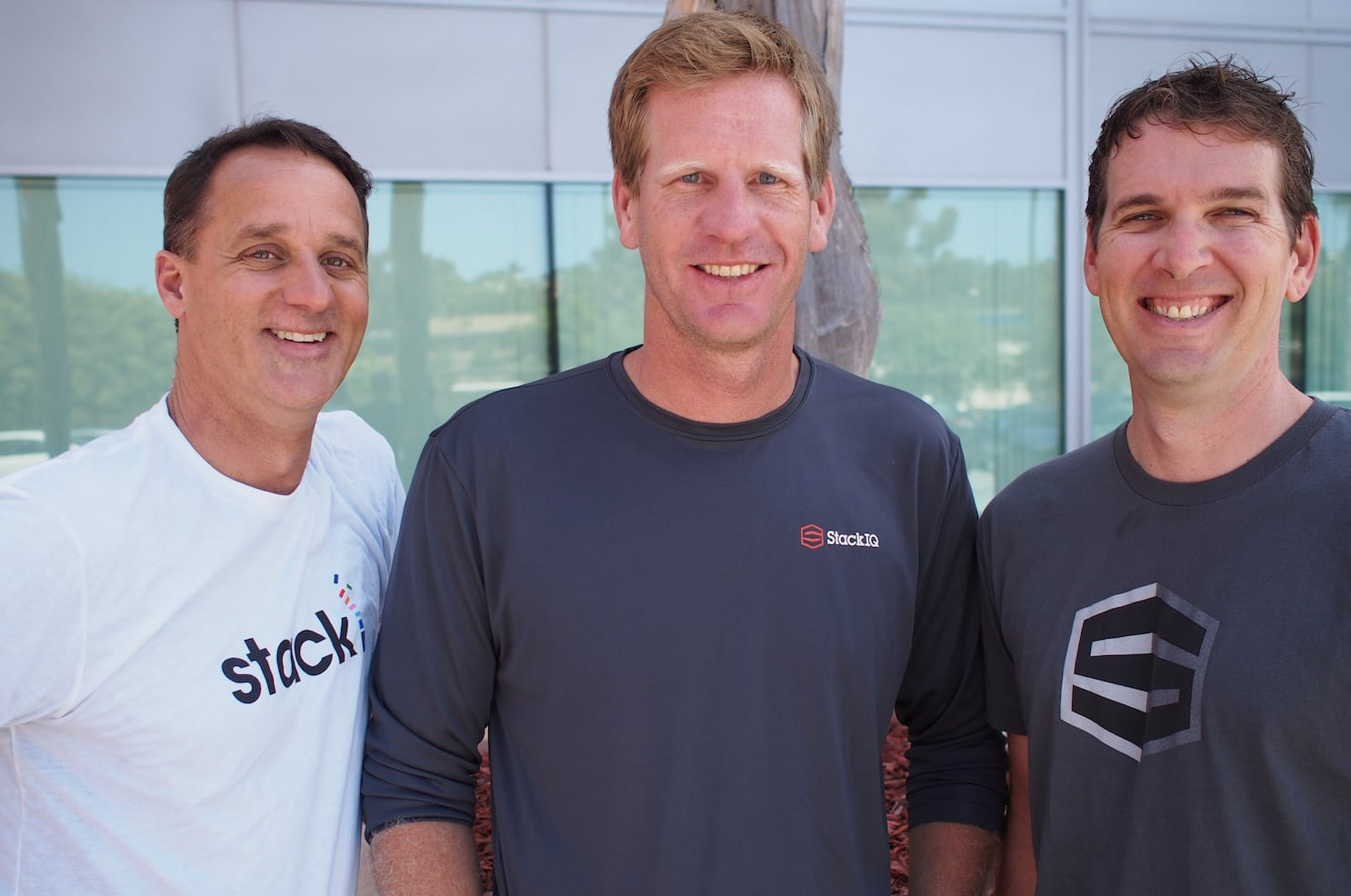 StackIQ co-founders (from left) Greg Bruno, Tim McIntire, and Mason Katz. StackIQ image used with permission.