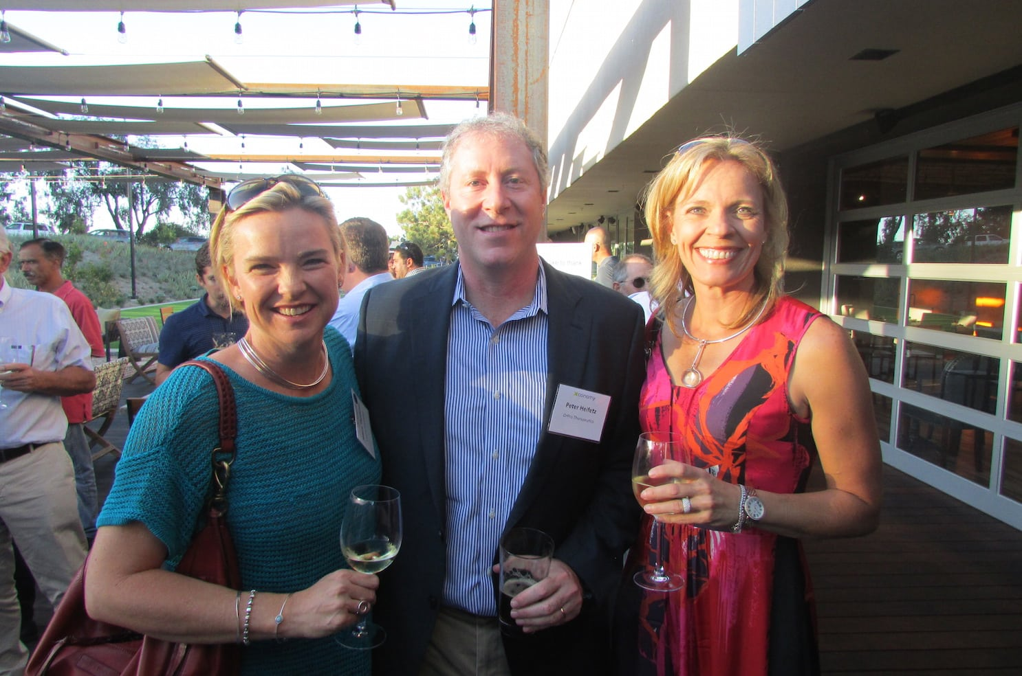 Hillary Theakston (left), Peter Heifetz, Carin Canale