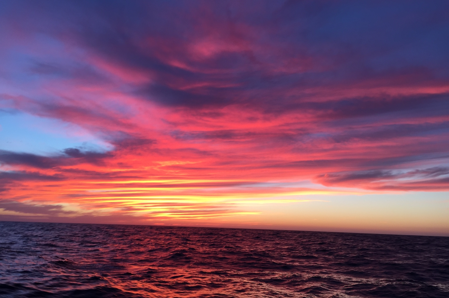 Offshore California sunset (photo by Bruce V. Bigelow)