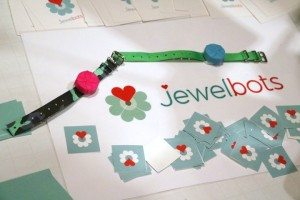 Programmable bracelets by Jewelbots (photo by João-Pierre S. Ruth).