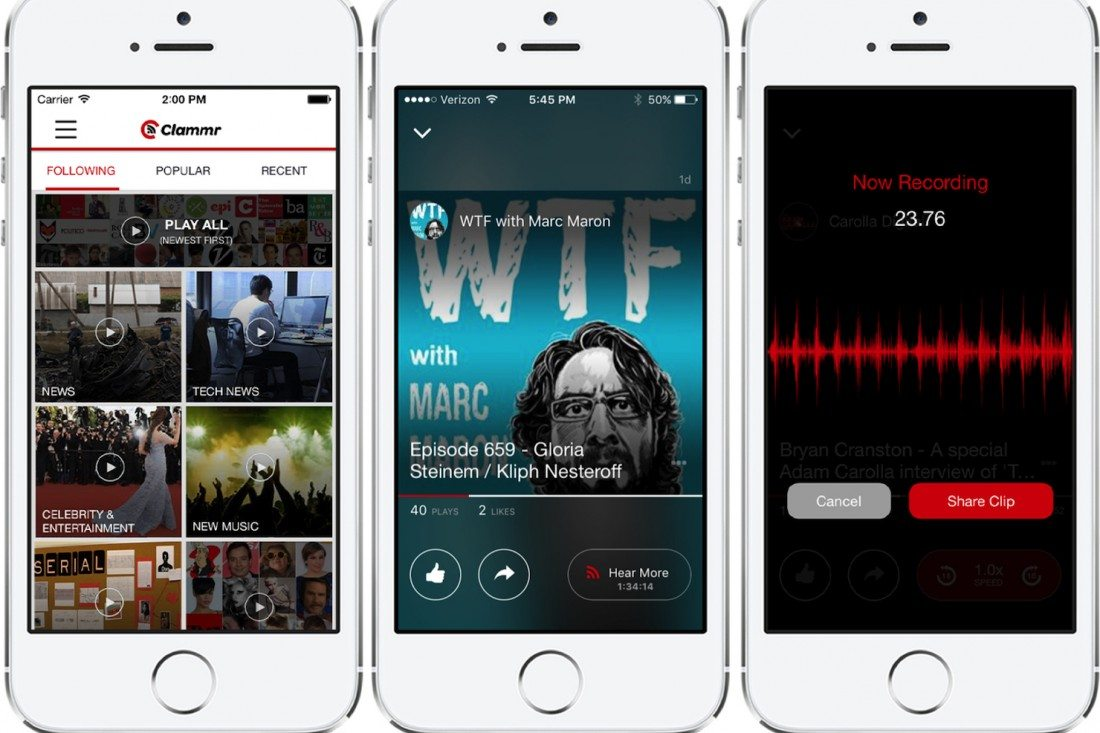 Clammr Aims to Be an Instagram for Audio, Draw Listeners to Podcasts